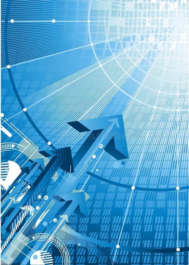 Concepto de la seguridad y de la tecnología stock de ilustración