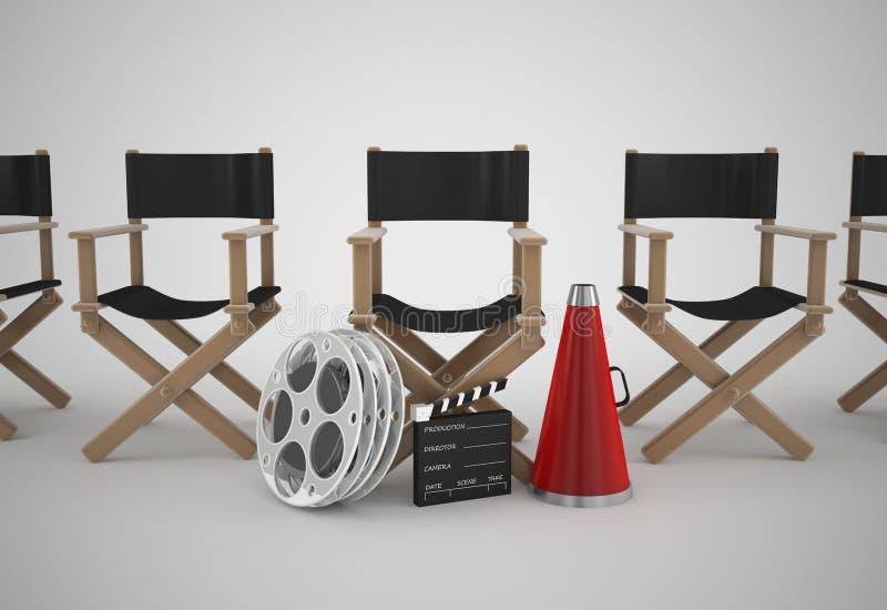 Concepto de la silla de los directores stock de ilustración