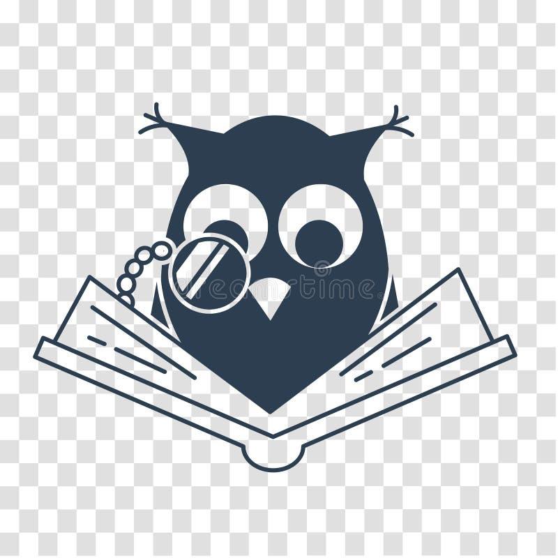 Concepto de la silueta de lectura cariñosa ilustración del vector