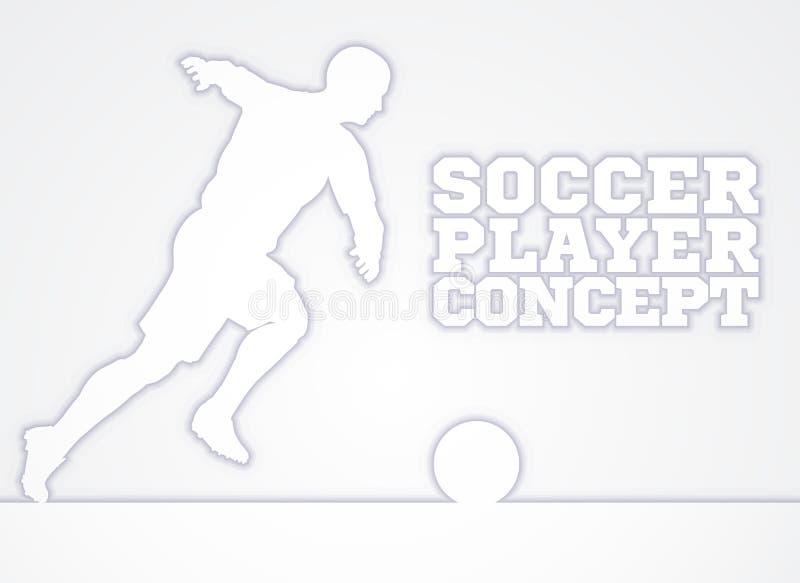 Concepto de la silueta del jugador de fútbol ilustración del vector