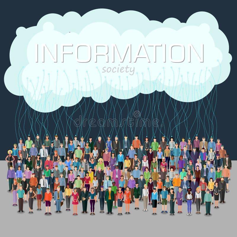 Concepto de la sociedad de la información stock de ilustración
