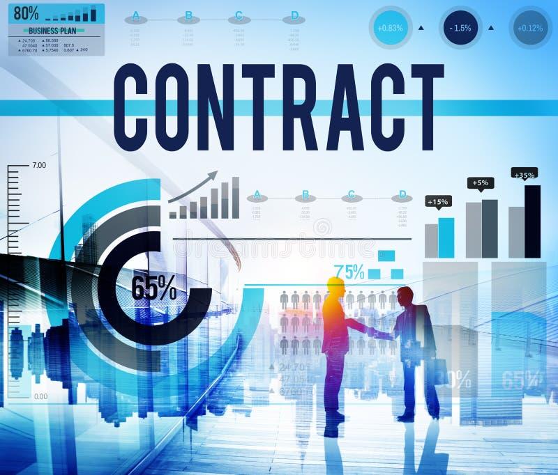 Concepto de la sociedad del negocio del trato del acuerdo de contrato imágenes de archivo libres de regalías