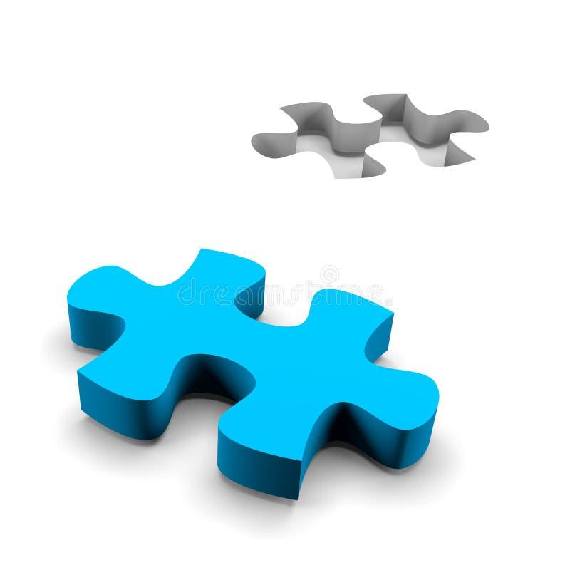 Concepto de la solución del rompecabezas ilustración del vector