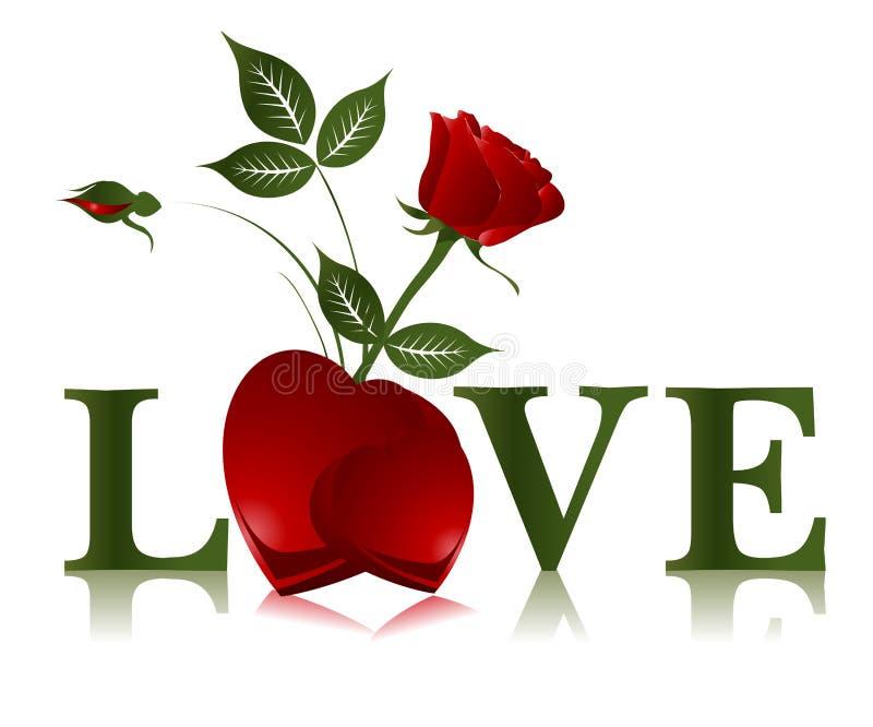 Concepto de la tarjeta del día de San Valentín stock de ilustración