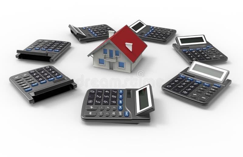 Concepto de la tasación de la casa stock de ilustración