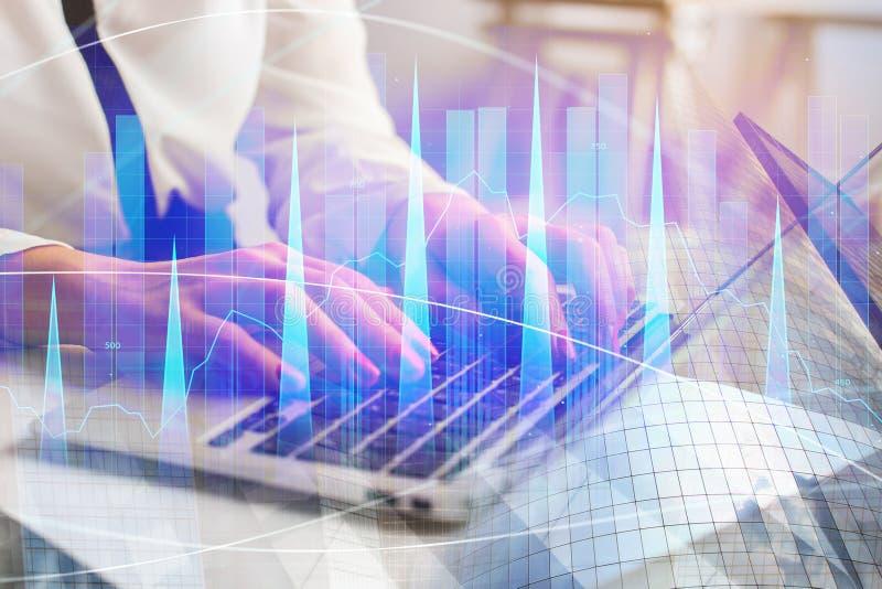 Concepto de la tecnología, de la contabilidad y de las finanzas imagenes de archivo