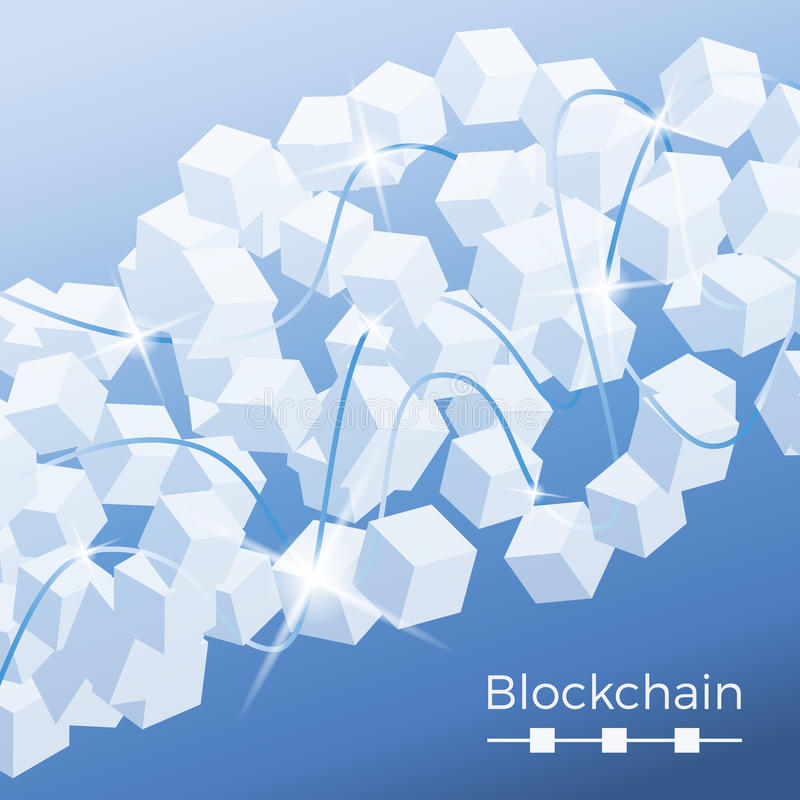 Concepto de la tecnología de Blockchain stock de ilustración