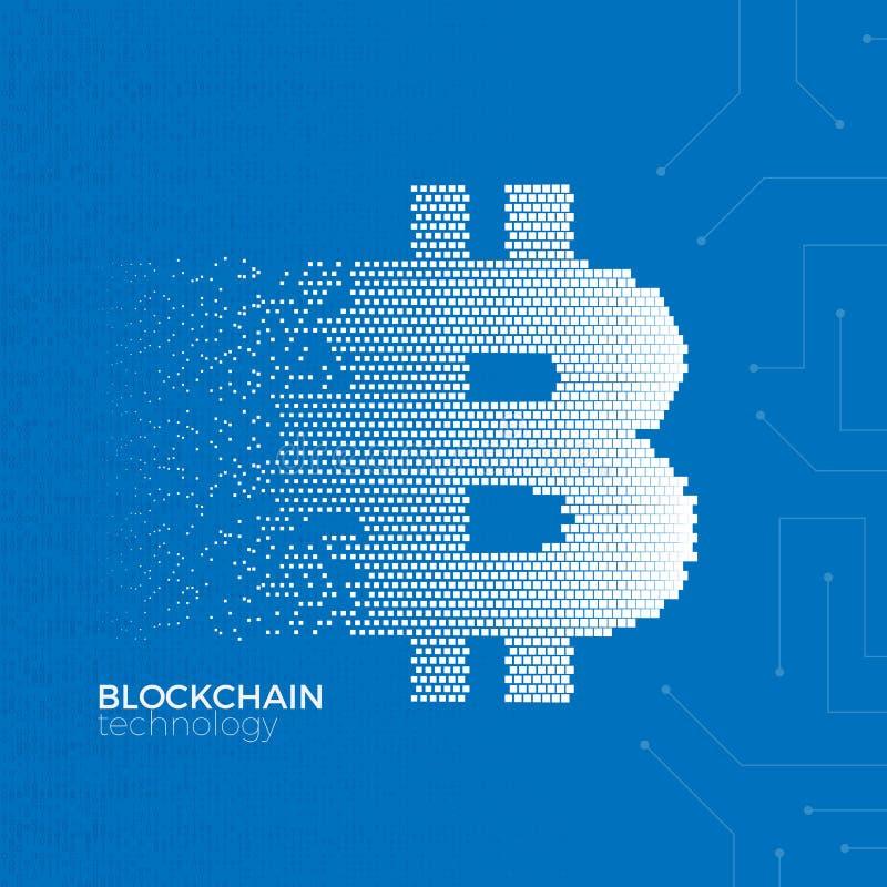 Concepto de la tecnología de Blockchain ilustración del vector