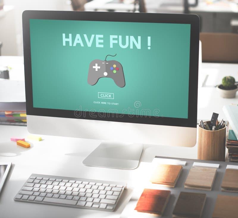 Concepto de la tecnología de Digitaces de la afición de la diversión del entretenimiento del juego fotografía de archivo