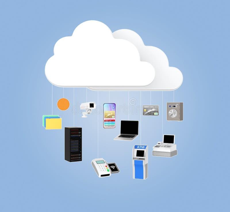 Concepto de la tecnología de Fintech imagen de archivo