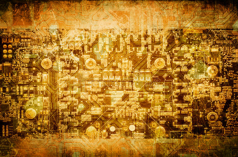 Concepto de la tecnología de Grunge ilustración del vector
