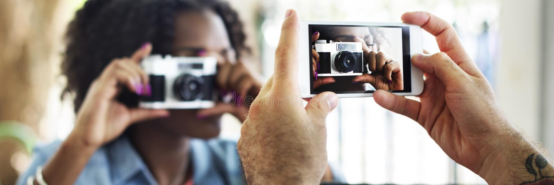 Concepto de la tecnología de la captura del teléfono de la cámara de la fotografía fotos de archivo libres de regalías