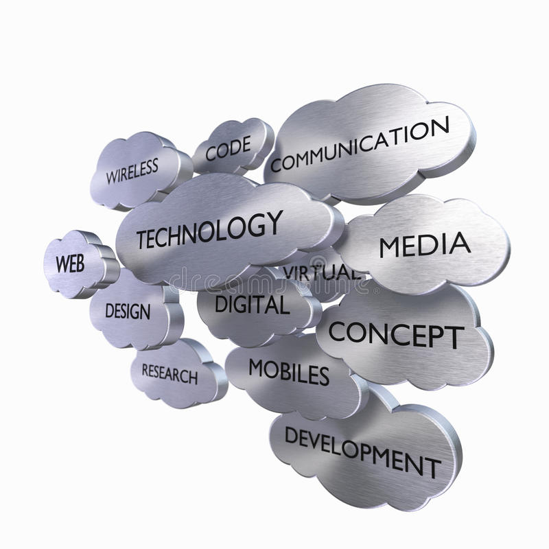 Concepto de la tecnología de los media ilustración del vector
