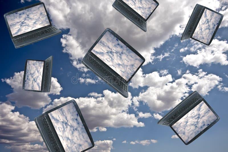 Concepto de la tecnología de ordenadores de la nube fotos de archivo