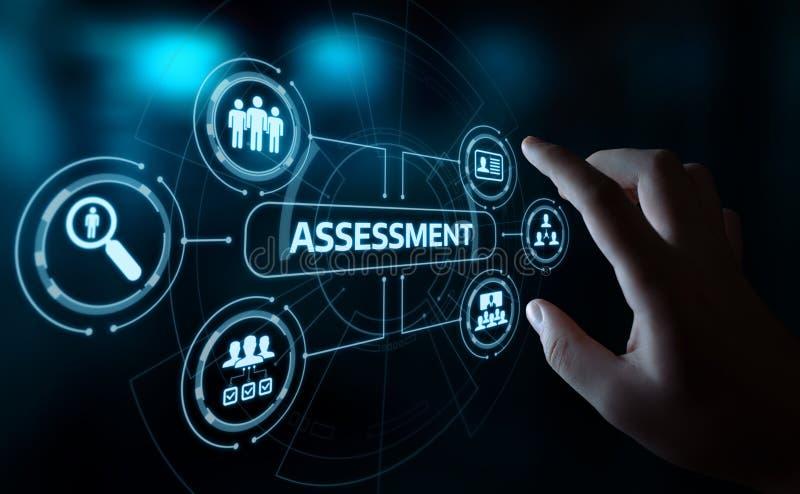 Concepto de la tecnología del Analytics del negocio de la medida de la evaluación del análisis de la evaluación foto de archivo