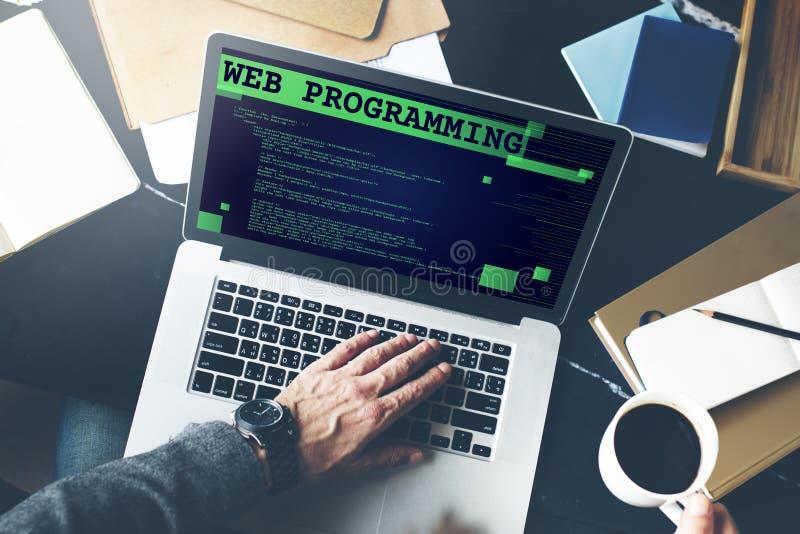 Concepto de la tecnología del desarrollador de software de la programación web fotos de archivo libres de regalías