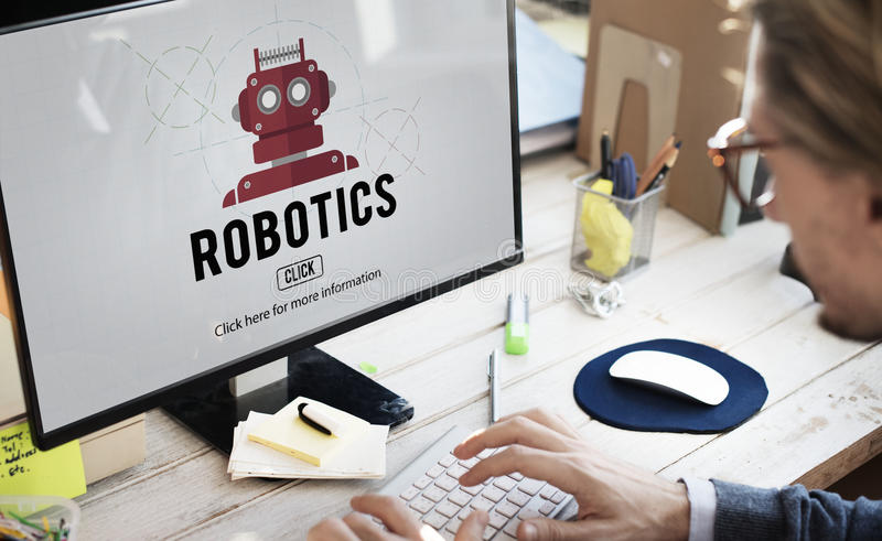 Concepto de la tecnología del instrumento de la maquinaria de la robótica fotos de archivo