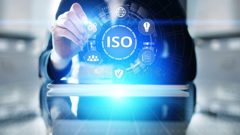 Concepto de la tecnología del negocio de la garantía de la garantía del control de calidad de los estándares de ISO foto de archivo