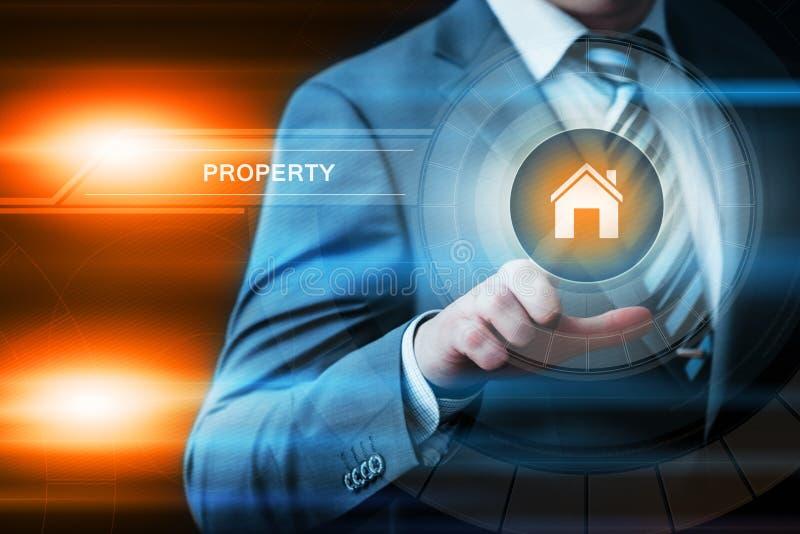Concepto de la tecnología del negocio de Internet del mercado inmobiliario de la gestión de inversiones de la propiedad imagenes de archivo