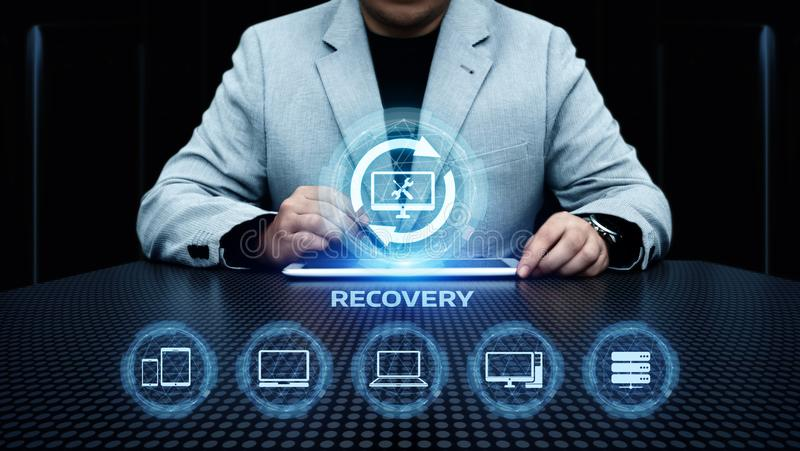 Concepto de la tecnología del negocio de Internet del ordenador de reserva de datos de la recuperación foto de archivo libre de regalías