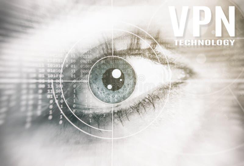 Concepto de la tecnología del VPN foto de archivo libre de regalías