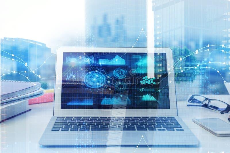 Concepto de la tecnología, de la innovación y de las finanzas imagenes de archivo
