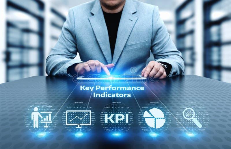 Concepto de la tecnología de Internet del negocio del indicador de rendimiento clave de KPI fotos de archivo