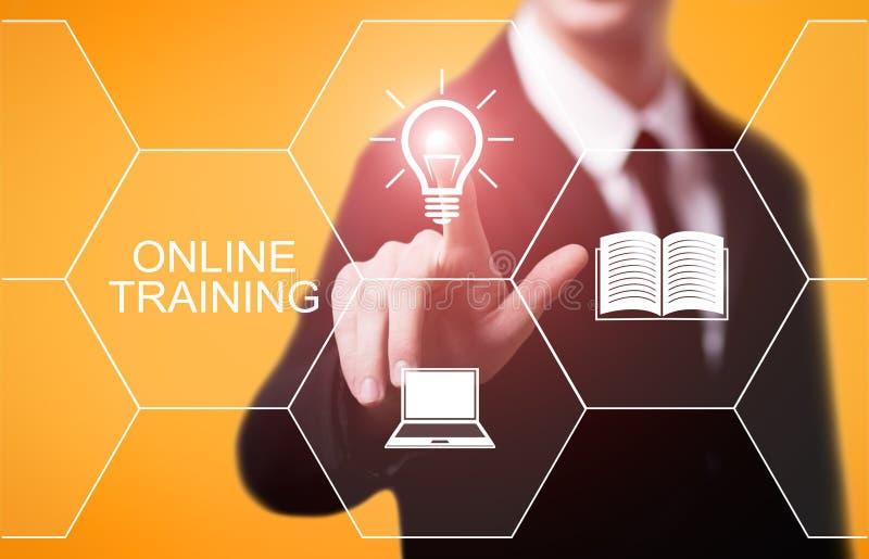Concepto de la tecnología de Internet del negocio de las habilidades del aprendizaje electrónico de Webinar del entrenamiento en  imagenes de archivo