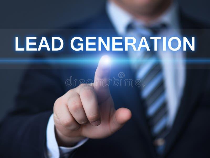 Concepto de la tecnología de Internet del negocio de publicidad del márketing de la generación de la ventaja imágenes de archivo libres de regalías