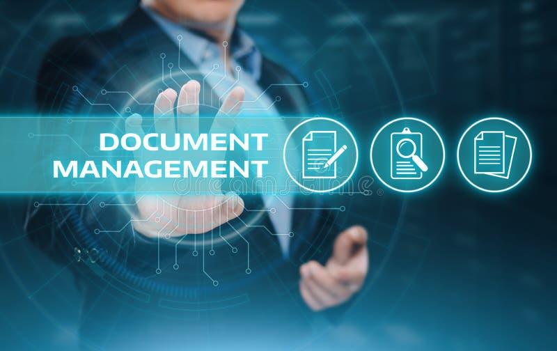 Concepto de la tecnología de Internet del negocio del sistema de datos de gestión de documentos foto de archivo