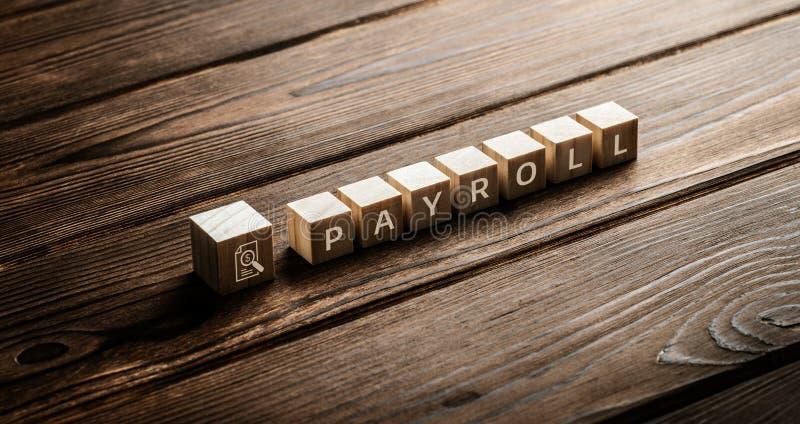 Concepto de la tecnología de Internet del negocio del trabajo del sueldo de la nómina de pago imagen de archivo