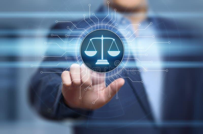 Concepto de la tecnología de Legal Business Internet del abogado de la ley laboral fotografía de archivo