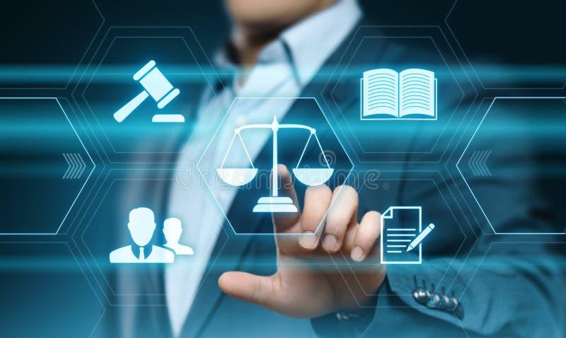 Concepto de la tecnología de Legal Business Internet del abogado de la ley laboral imagen de archivo
