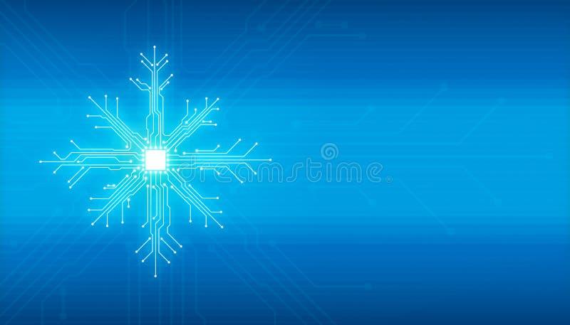 Concepto de la tecnología de la Navidad del Año Nuevo de Showflake libre illustration
