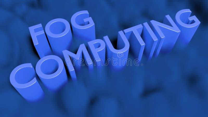 Concepto de la tecnología de ordenadores de la niebla con humo azul libre illustration
