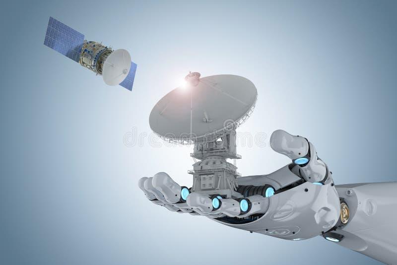 Concepto de la tecnología de la telecomunicación libre illustration