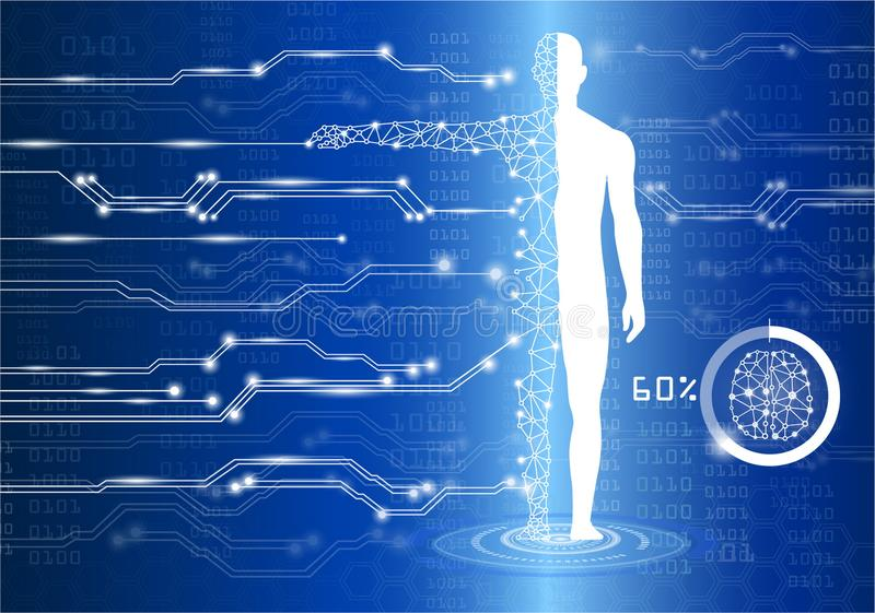 Concepto de la tecnología y de la ciencia stock de ilustración