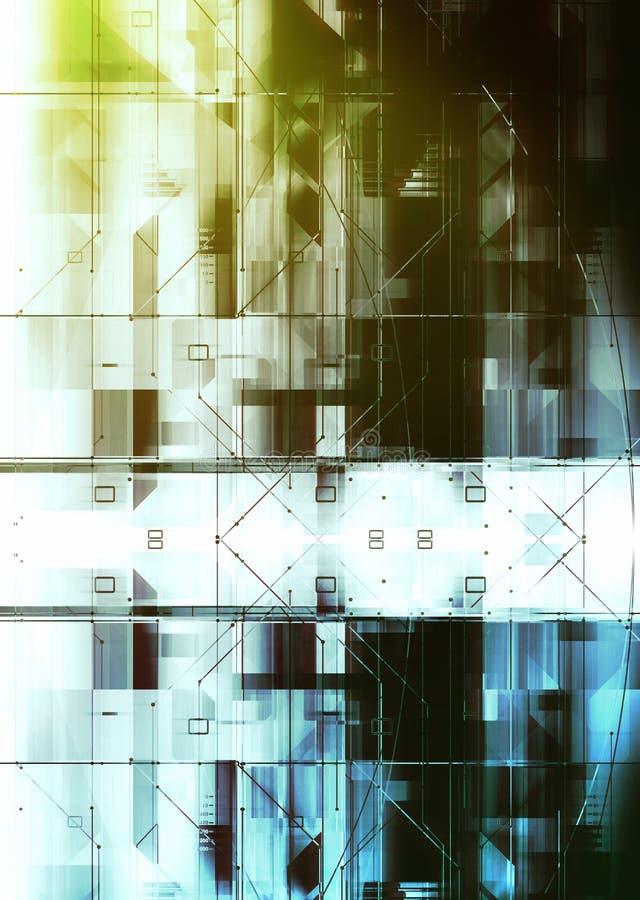 Concepto de la tecnología y circuitos digitales ilustración del vector
