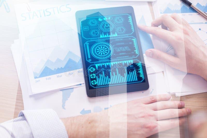 Concepto de la tecnología y de las finanzas imagen de archivo libre de regalías