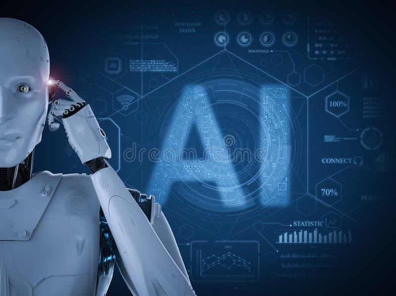 Concepto de la tecnolog?a del AI