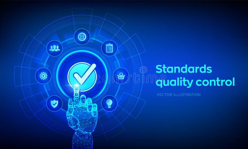 Concepto de la tecnolog?a del negocio de la garant?a de la garant?a del control de calidad de los est?ndares de ISO Servicio de l stock de ilustración