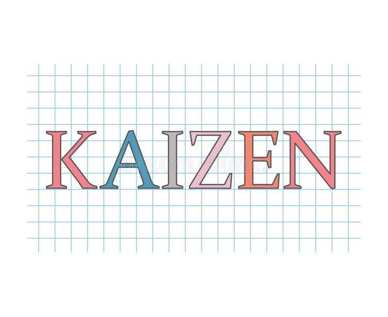 Concepto de la teoría del negocio de Kaizen libre illustration