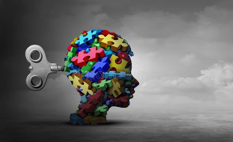Concepto de la terapia del autismo stock de ilustración