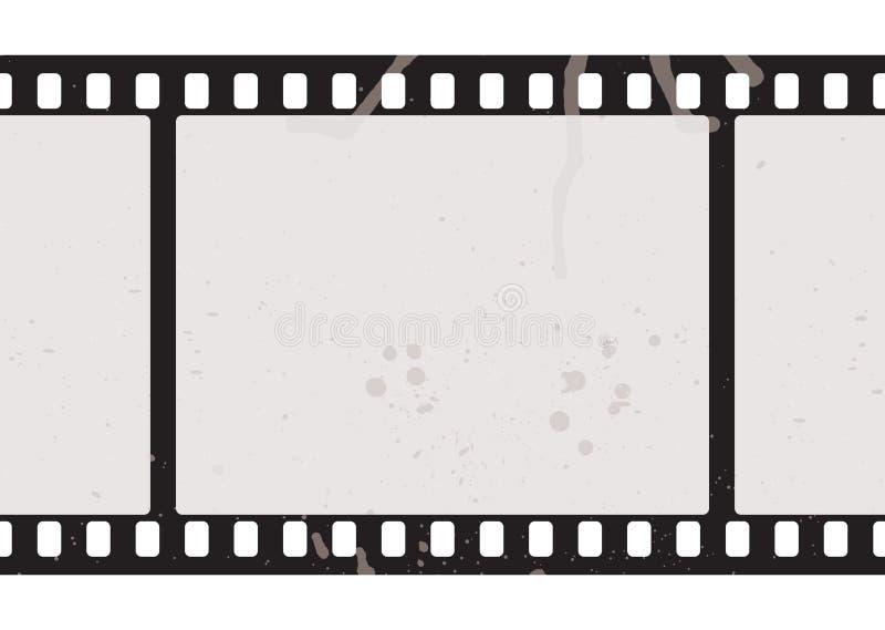 Concepto de la tira de la película ilustración del vector