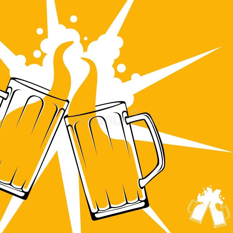 Concepto de la tostada de la cerveza ilustración del vector