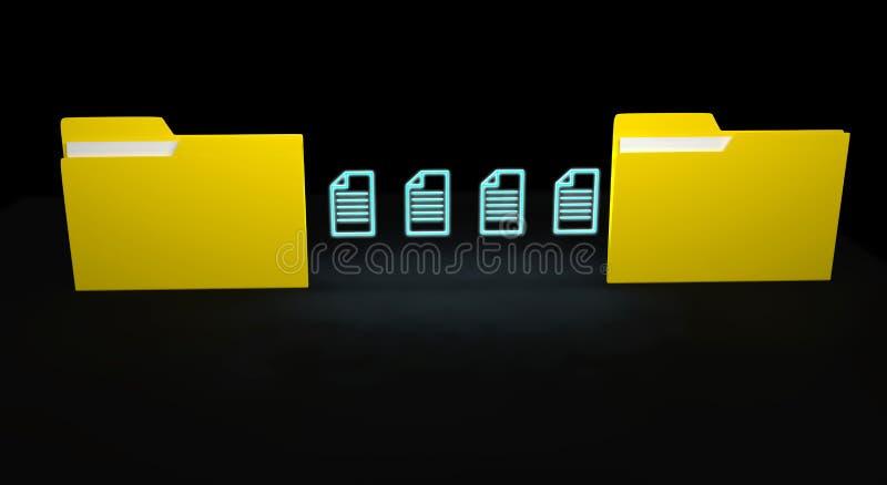 Concepto de la transferencia de datos libre illustration