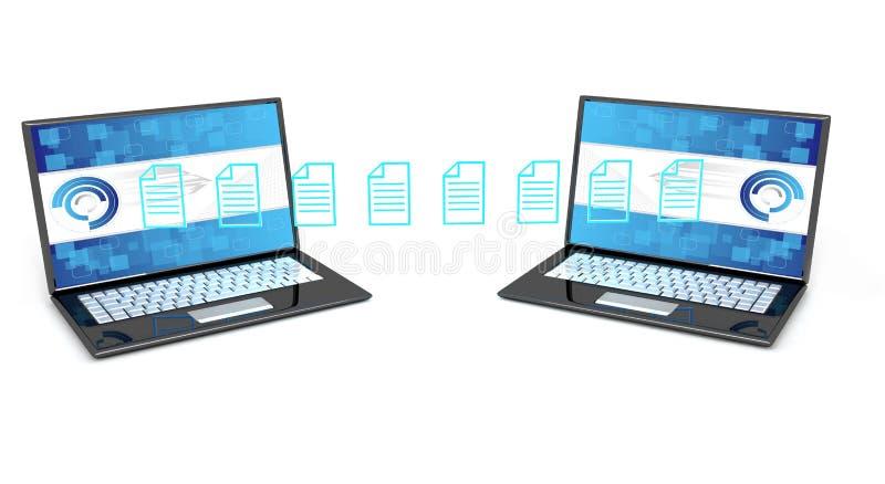 Concepto de la transferencia de datos stock de ilustración