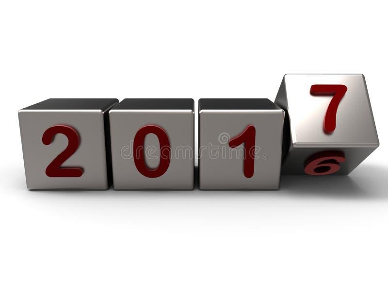 concepto 2016 a 2017 de la transición stock de ilustración