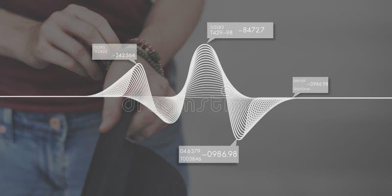 Concepto de la trigonometría del gráfico de la parábola de la álgebra de las matemáticas foto de archivo