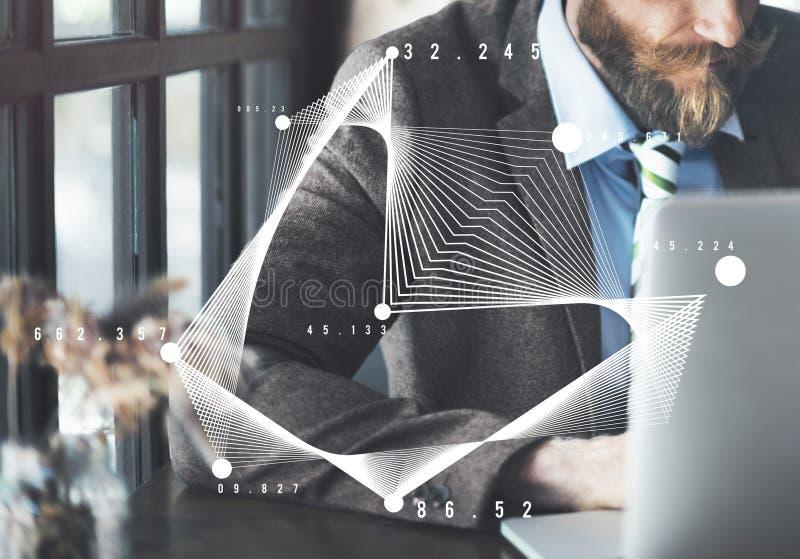 Concepto de la trigonometría del gráfico de la parábola de la álgebra de las matemáticas fotos de archivo